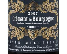 CAVE DE LUGNY CUV�E MILL�SIME BRUT CR�MANT DE BOURGOGNE 2013