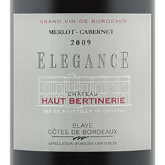 CH�TEAU HAUT-BERTINERIE ELEGANCE MERLOT/CABERNET 2014