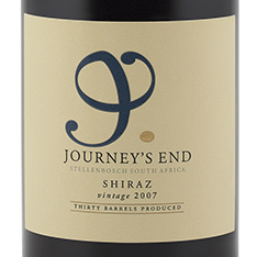 JOURNEY'S END SHIRAZ 2012