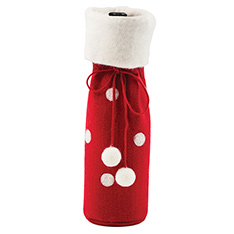 RED FELT BOTTLE BAG WITH DOTS - P9 2013