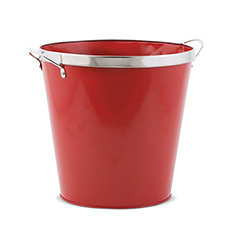 HOLIDAY PAIL W/CHROME TRIM