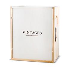 VINTAGES WOODEN BOX - 6 BOTTLE
