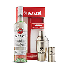 BACARDI SUPERIOR WITH SHAKER & JIGGER