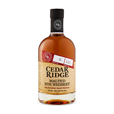 CEDAR RIDGE MALTED RYE WHISKY