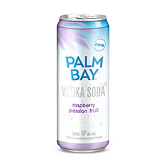 PALM BAY RASPBERRY PASSIONFRUIT VODKA SODA 6X355ML