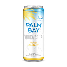 PALM BAY MANGO PINEAPPLE VODKA SODA 6X355ML