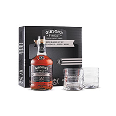 GIBSON'S FINEST BOLD 8YO GIFT SET WITH 2 GLASSES**